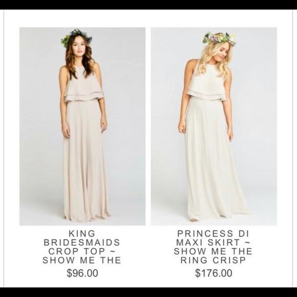 Show Me Your MuMu Dresses & Skirts - Bridesmaids dress! Color- Show Me The Ring Crisp